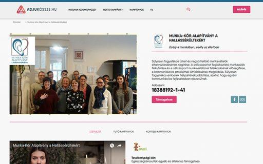 Elindult az Adjukössze.hu bankkártyás adakozási kampányunk