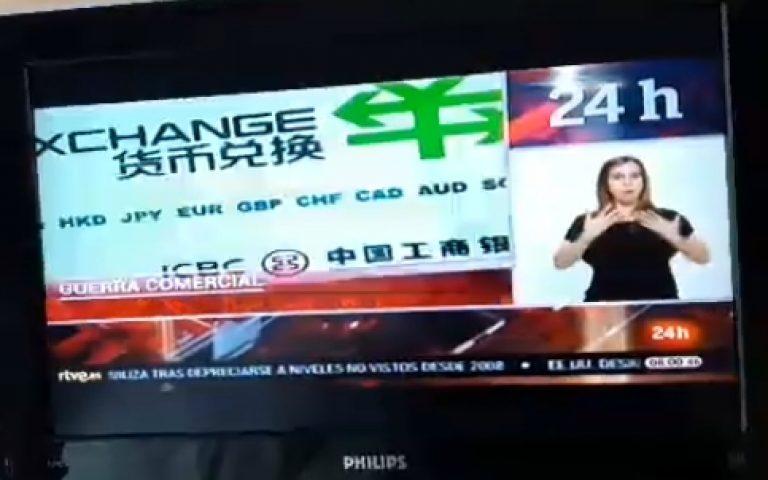 Jelelés a spanyol hírtelevízióban