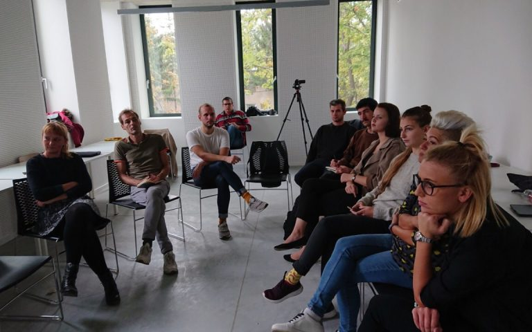 We gave a lecture at the Moholy-Nagy University